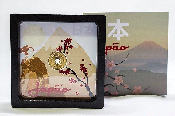 Display de Plástico - Japão 1 moeda de 5 Yens
