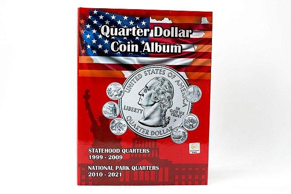 Álbum vazio para Moedas Americanas de Quarter Dollar - Estados e Parques