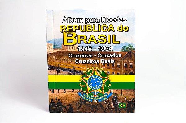 Álbum para moedas da Republica do Brasil 1942 a 1994