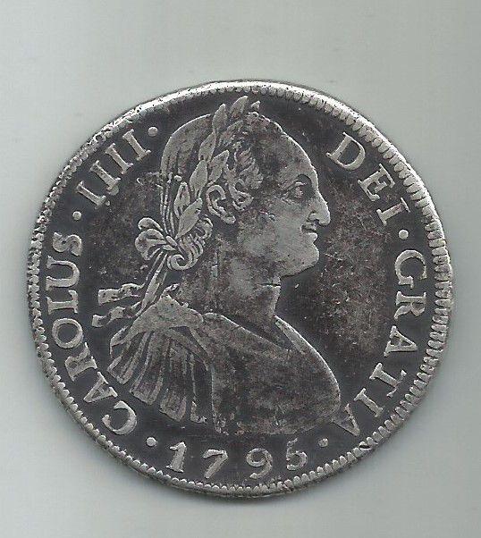 MOEDA  DE 8 REALES, CAROLUS IIII, ANO 1795 POTOSI-BOLIVIA