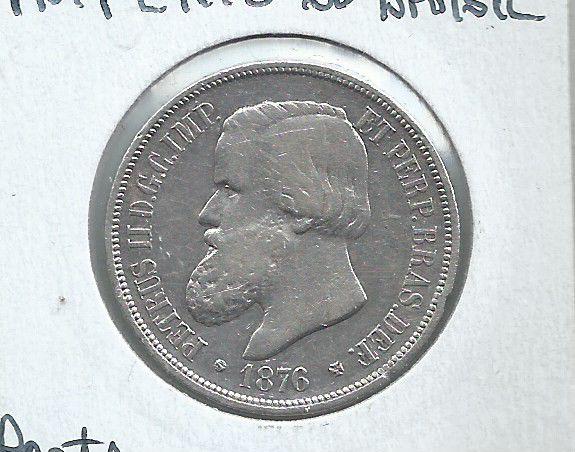 MOEDA DE MIL RÉIS DE 1876 - PRATA