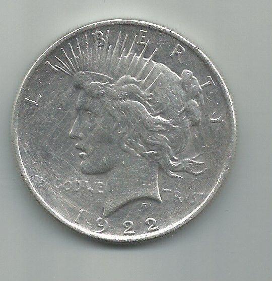 MOEDA DE 1 DOLLAR DE PRATA DE 1922