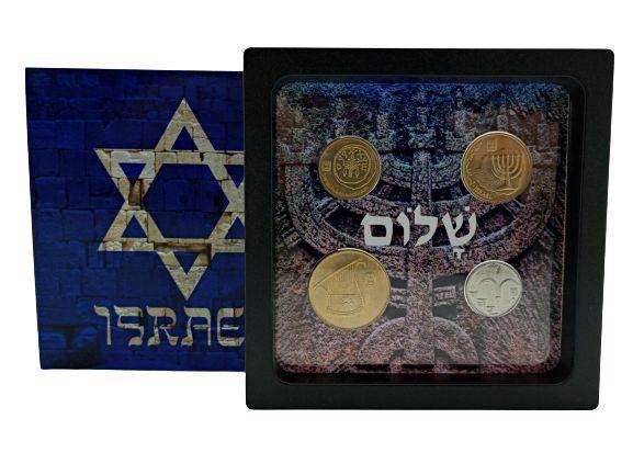 Display de Plástico Israel com 4 moedas