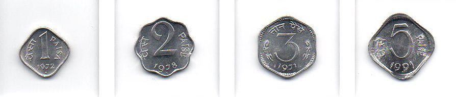 Set Moedas da Índia - 4 moedas