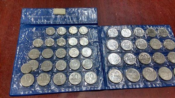 Caderneta com moedas do antigo Banco Residência - DATAS VARIADAS