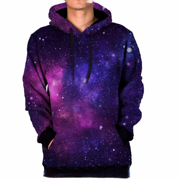 Blusa Moletom Canguru Full 3d Galaxia Nebulosa Tumblr Swag