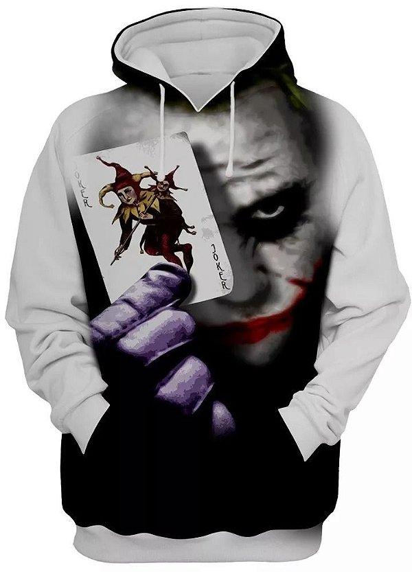 Blusa De Frio Moletom Unissex Joker Palhaço Haha 3d Full