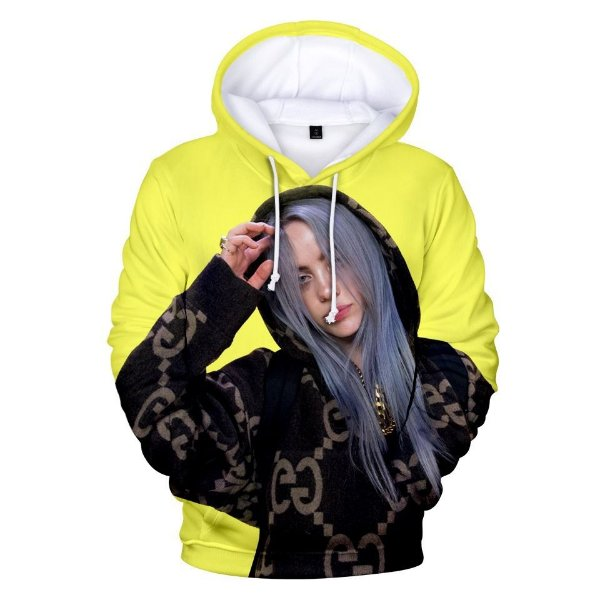 Blusa Moletom Canguru Full Cantora Billie Eilish