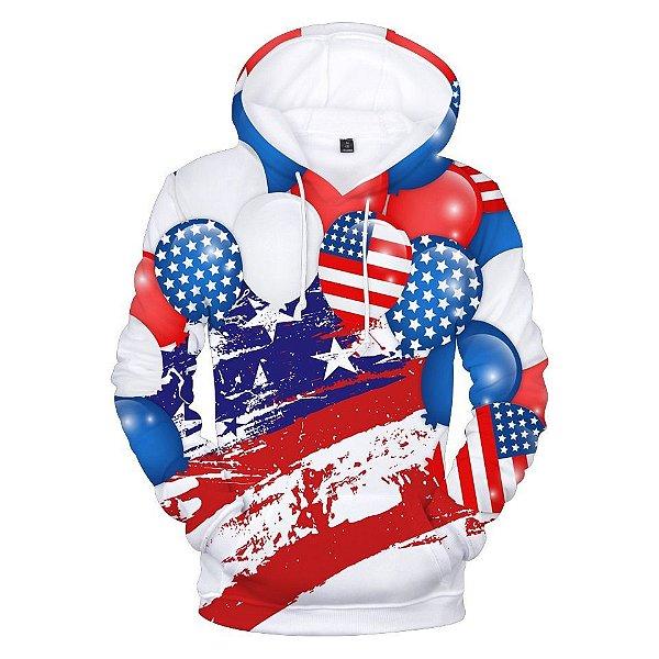 Blusa De Frio Moletom 3d Full Estados Unidos Eua America