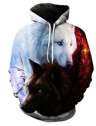 Blusa De Frio Moletom Unissex Lobo Branco E Negro  Full
