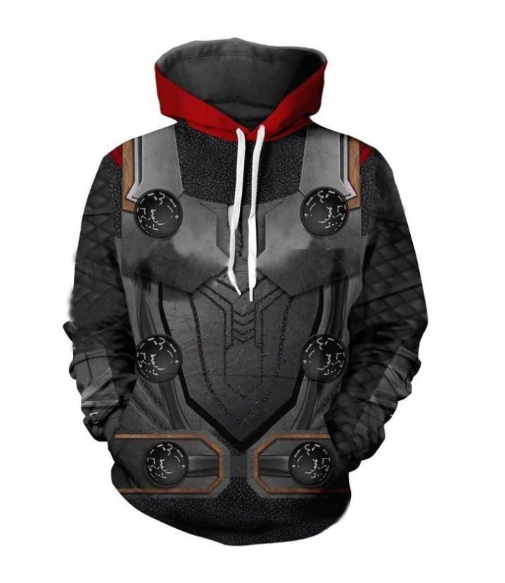 Blusa Moletom Canguru Full 3d Vingadores Thor Martelo