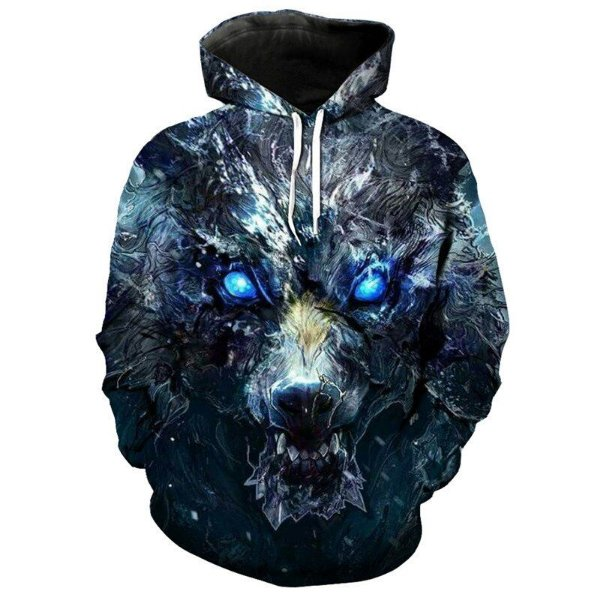 Blusa Moletom Canguru Full 3d Game of Thrones GoT Lobo Mágico