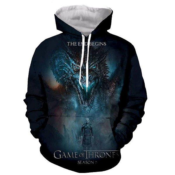 Blusa Moletom Canguru Full 3d Game of Thrones GoT Série
