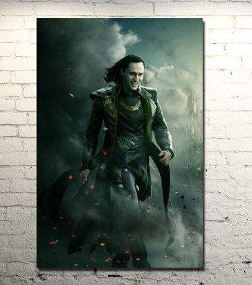 Painel Quadro 1 Tela Vingadores Avengers Filme Loki Laufeyson 60x40xm
