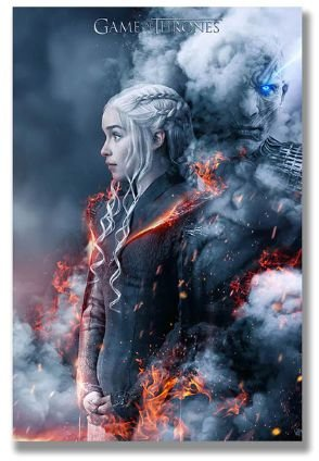 Painel Quadro 1 Tela Game of Thrones Série  60x40cm
