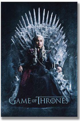 Painel Quadro 1 Tela Game of Thrones Série GoT Daenerys 60x40cm