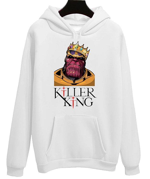 Blusa Moletom Canguru Vingadores Avengers Filme Killer King Thanos