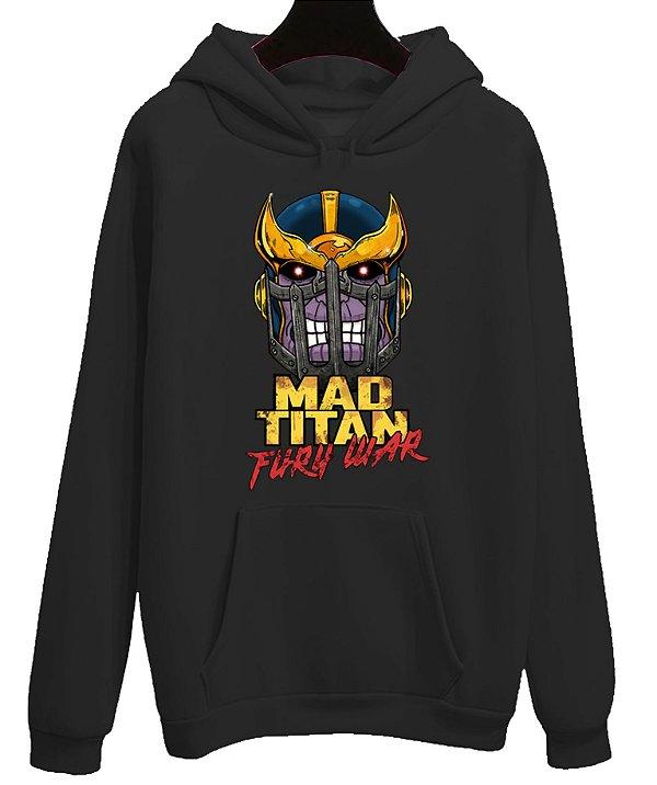 Blusa Moletom Canguru Vingadores Avengers Filme Thanos Mad Titan