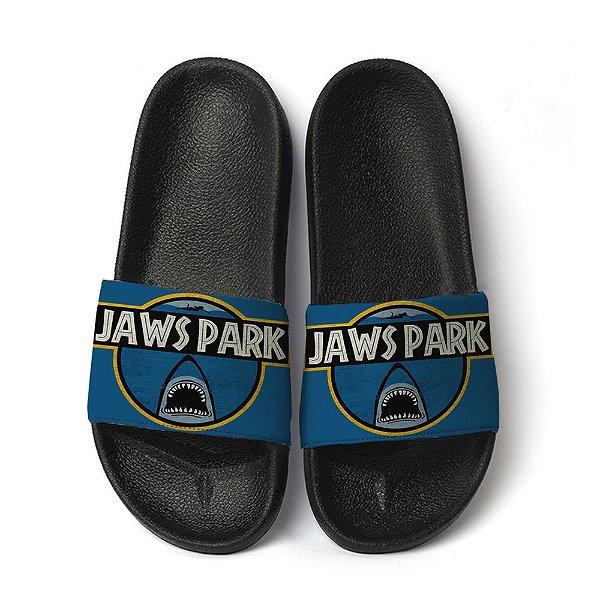 Chinelo Slide Unissex Jaws Park Tubarões