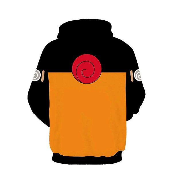 Moletom Blusa 3d Full Anime Naruto Raposa Uniforme