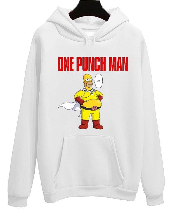 Blusa Moletom Canguru Anime One Punch Man Homer