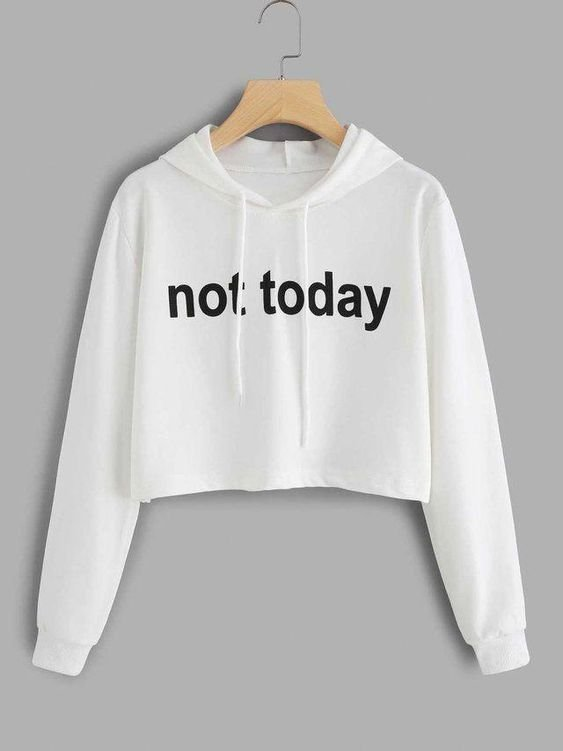 Moletom Cropped Feminino Not Today