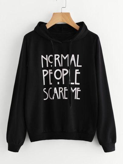 Moletom Blusa Canguru Normal People Scare Me AHS