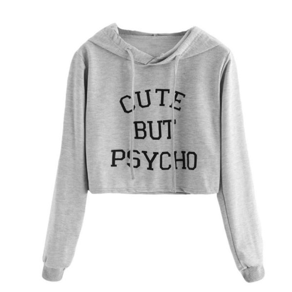 Moletom Cropped Feminino Cute But Psycho