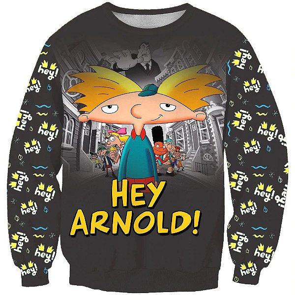 Blusa Moletom Desenho Hey Arnold