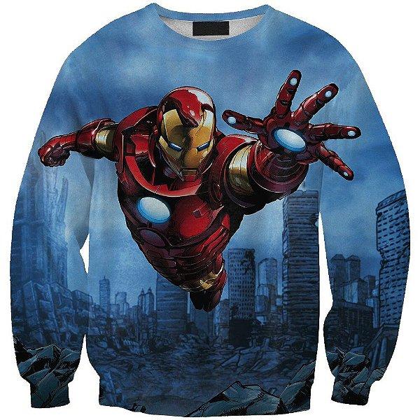 Blusa Moletom Careca 3d Full Homem De Ferro Vingadores Avengers