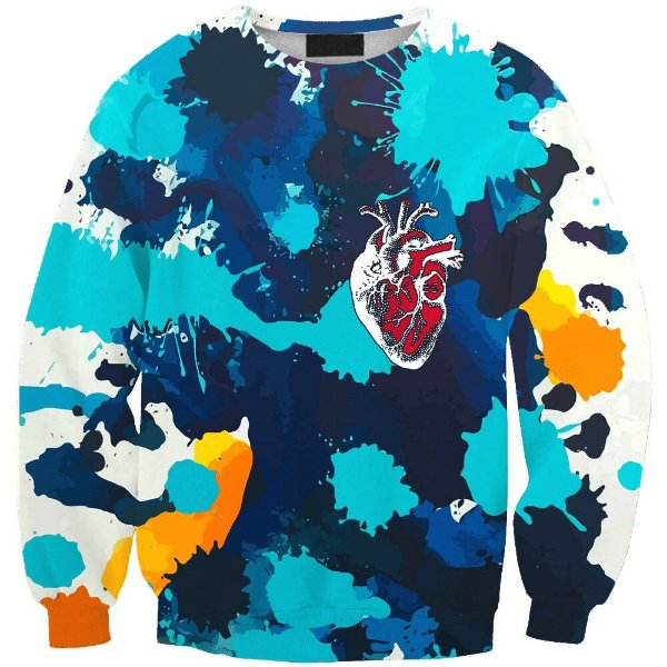 Blusa Moletom Careca 3d Full Heart