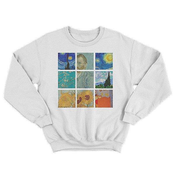 Moletom Gola Redonda Van Gogh Pinturas Unissex