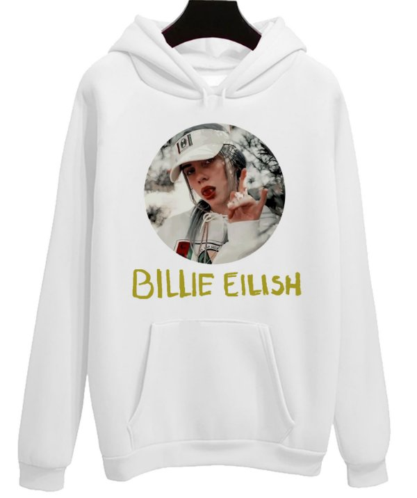 Blusa Moletom Canguru Billie Eilish Cantora Pop Musica