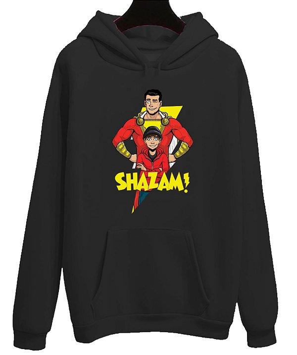 Blusa Moletom Canguru Shazam Filme Super-Herói