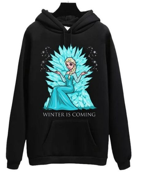 Blusa Moletom Canguru GoT Game Of Thrones Elsa Winter is Coming