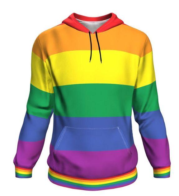 Blusa Moletom Canguru Full 3d LGBT Orgulho Bandeira Gay