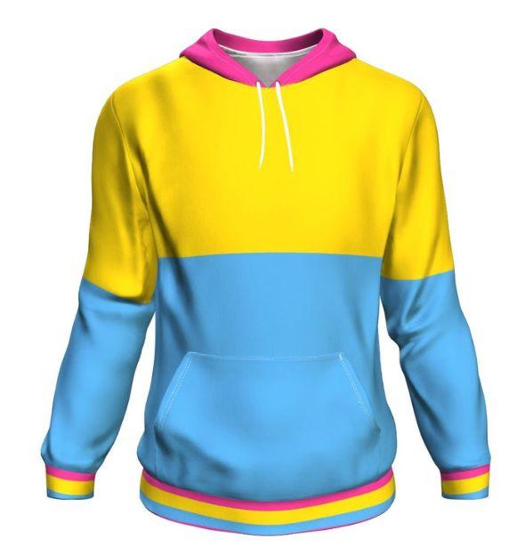 Blusa Moletom Canguru Full 3d LGBT Orgulho Bandeira Pansexual