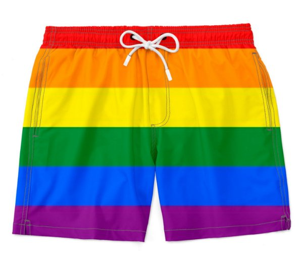 Bermuda Praia Unissex Orgulho Lgbtq Bandeira Gay