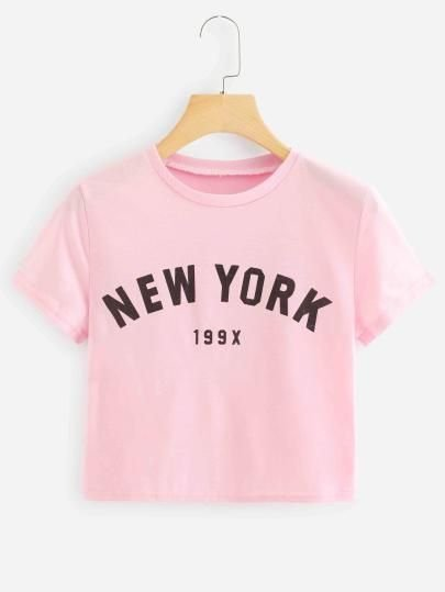 Camiseta Cropped New York