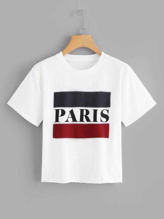 Camiseta Cropped Paris