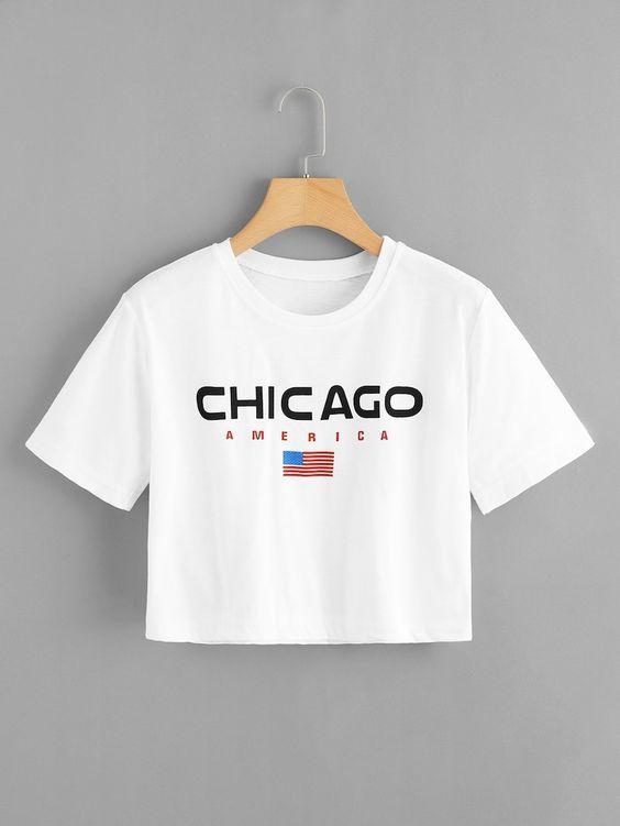 Camiseta Cropped Chicago America