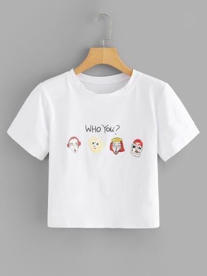 Camiseta Cropped Who You?