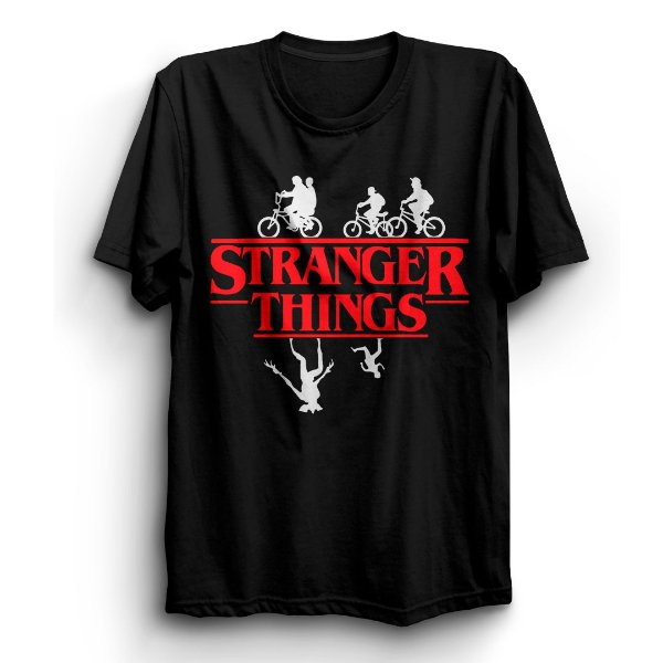 Camiseta Unissex Série Stranger Things Bike
