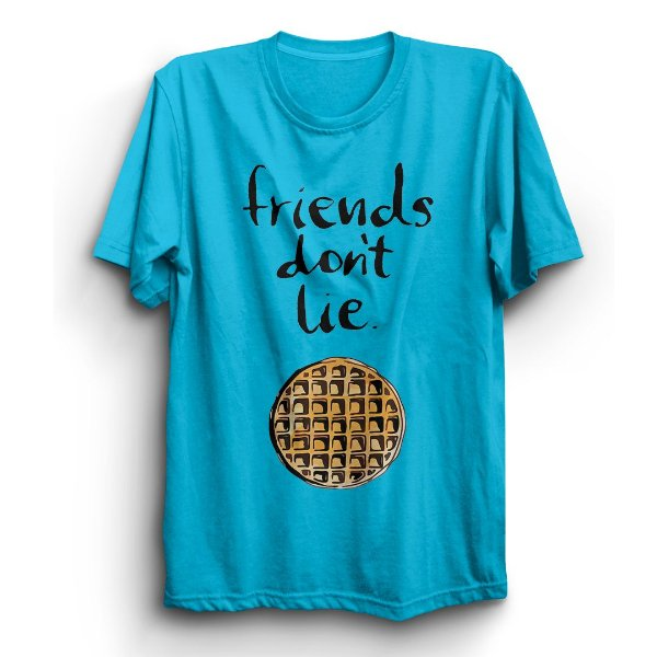 Camiseta Unissex Série Stranger Things Friends Don't Lie