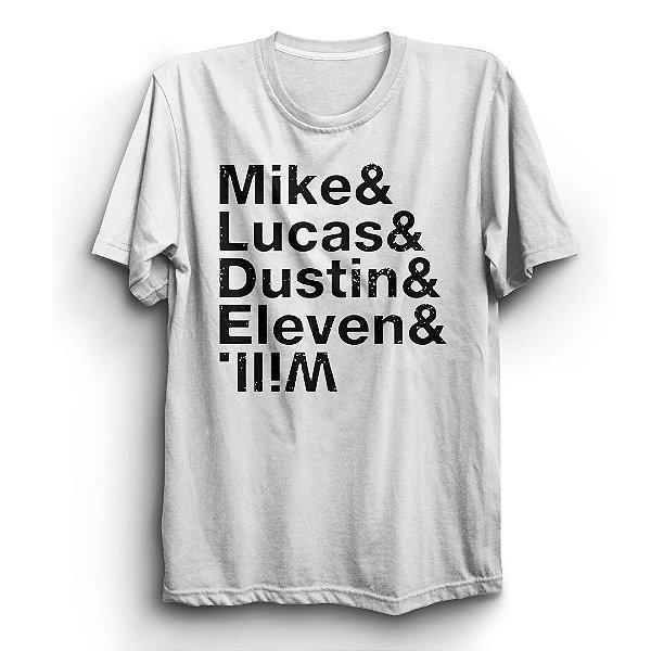 Camiseta Unissex Stranger Things Série Personagens