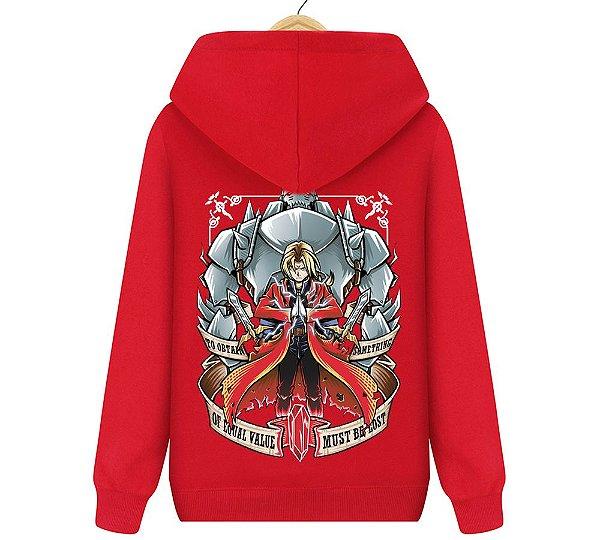 Blusa Moletom Canguru Anime Fullmetal Alchemist: Brotherhood