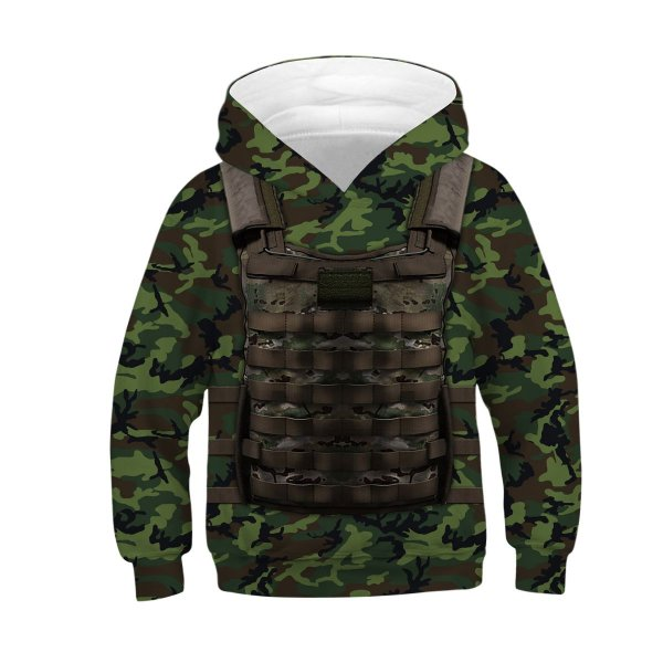 Blusa Moletom Infantil 3d Full Camuflado Soldado
