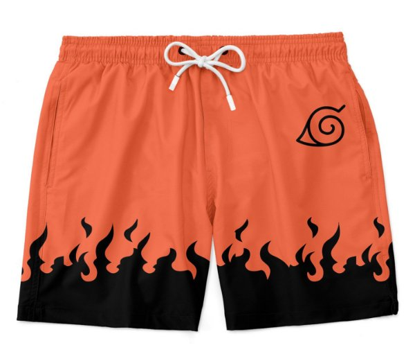 Bermuda Praia Anime Naruto Flames