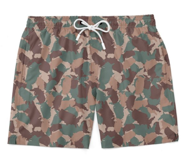 Bermuda Praia Camuflada Militar