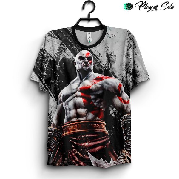 Camiseta 3d Full Kratos God Of War